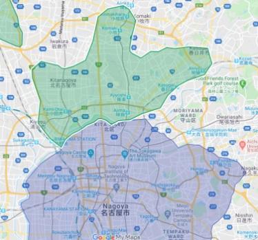 春日井UberEats配達対応エリア