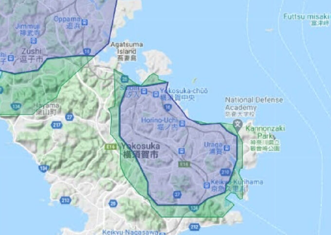 Uber Eats横須賀配達エリア拡大【210412】
