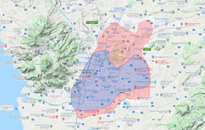 Uber Eats熊本配達エリア【210311】