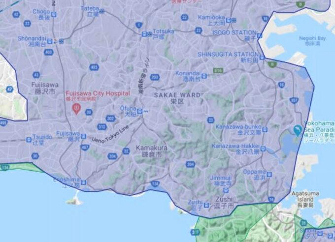 Uber Eats鎌倉配達エリア【210412】