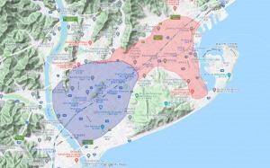 Uber Eats静岡配達エリア【拡大210325】