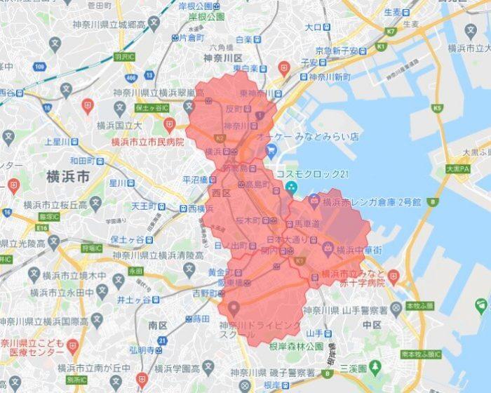 menu横浜デリバリー対応エリア(9_14更新)