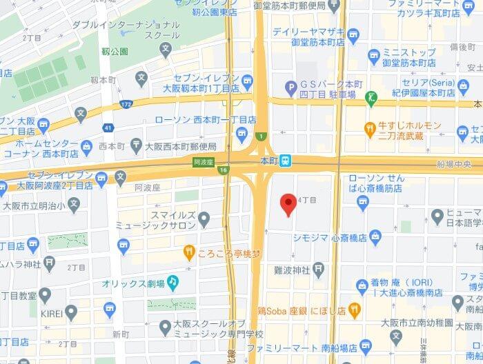 DiDiFoodパートナーハブMAP(大阪)