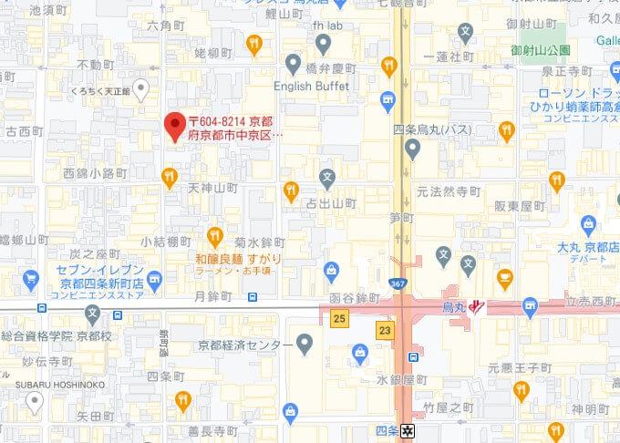 DiDiFood京都パートナーハブ【MAP】