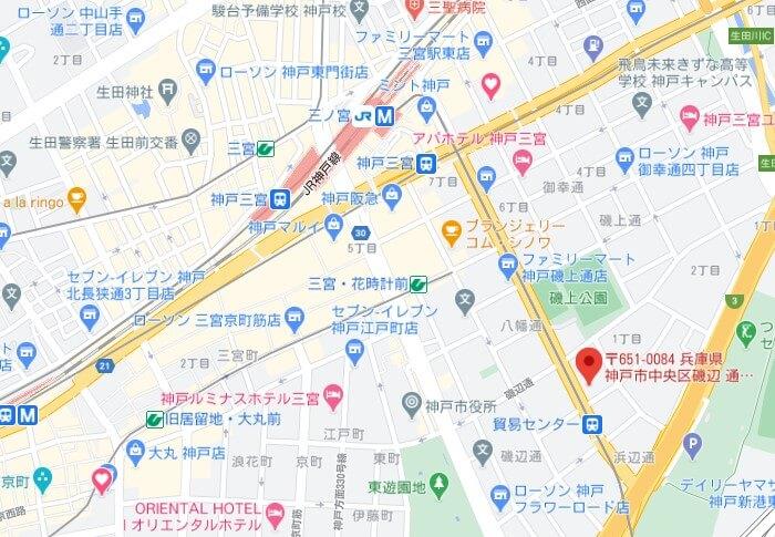 DiDiFood神戸パートナーハブ(map)
