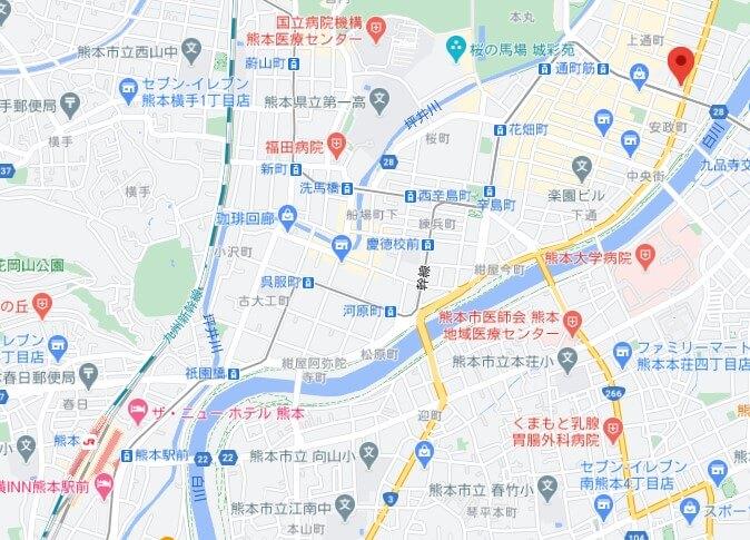Foodpanda熊本ライダー拠点MAP
