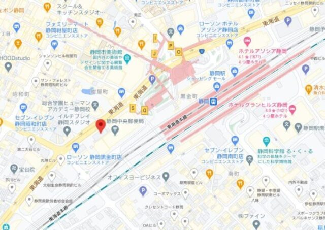 Foodpanda静岡ライダー拠点MAP
