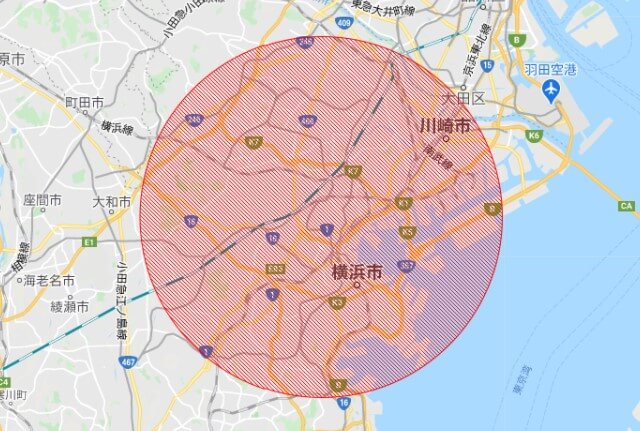 DiDiFood横浜・川崎エリア【想定】