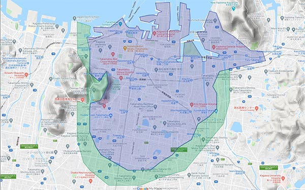 Uber Eats高松エリア