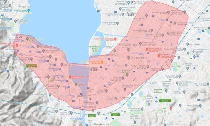 Uber Eats大津配達エリア【210708】
