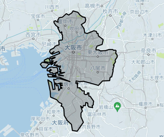 Uber Taxi大阪エリア